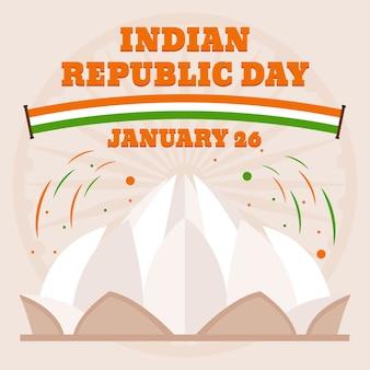 Concept de design plat jour de la république de l'inde