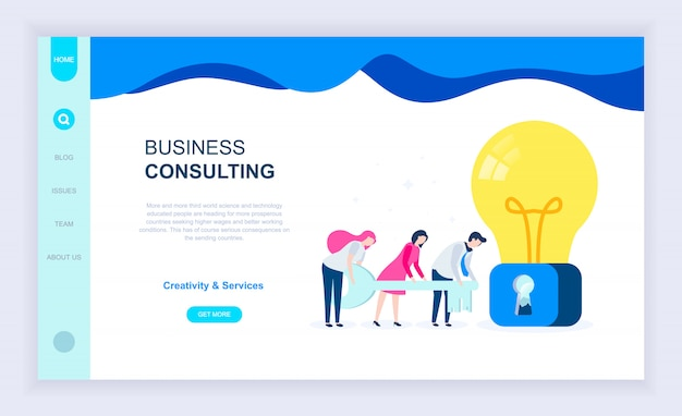 Concept de design plat moderne de business consulting