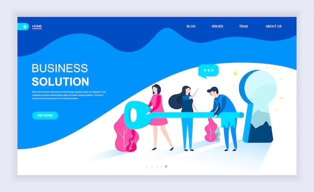 Concept de design plat moderne de business solution