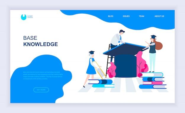 Concept de design plat moderne de connaissances de base