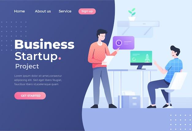 Concept de design plat moderne unique de travail d'équipe pour site web et site web mobile