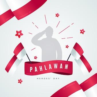 Concept de design plat pahlawan