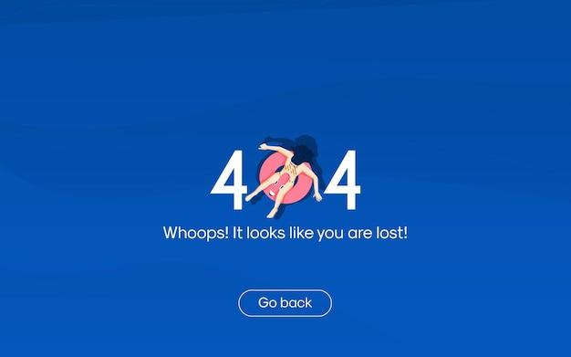 Concept de design plat pour la page non trouvée erreur 404