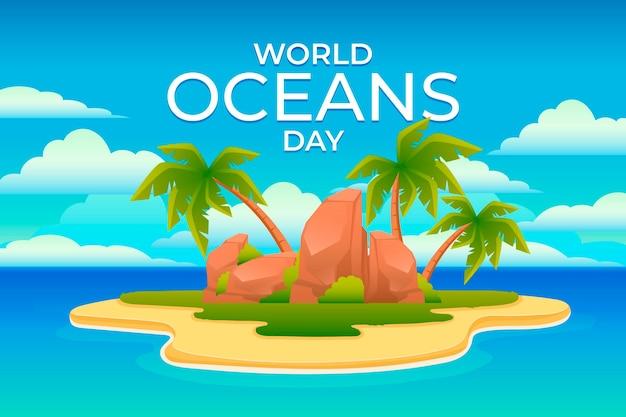 Concept de design plat world oceands day