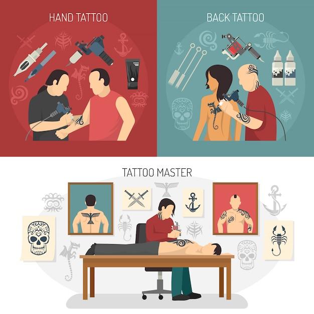 Concept de design de studio de tatouage