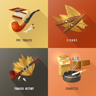 Concept de design de tabac
