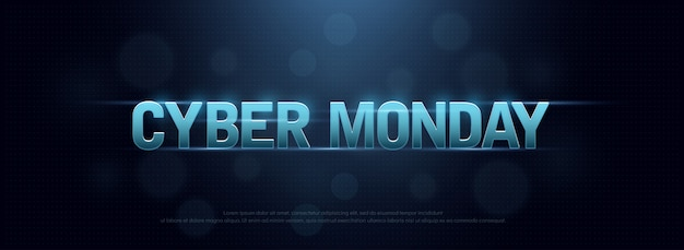 Concept de design de technologie de vente de logo cyber lundi