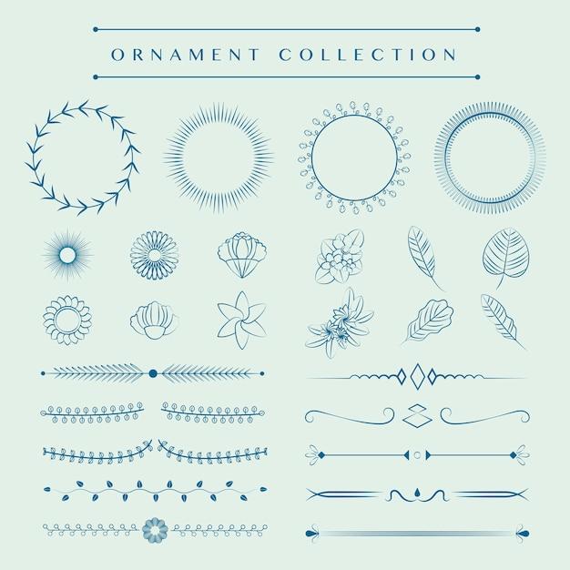 Concept de design vecteur collection ornements