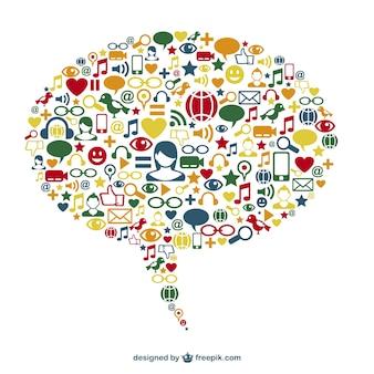 Concept de design de vecteur de médias sociaux