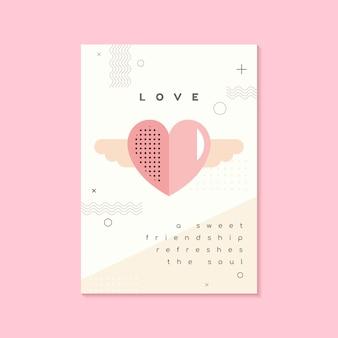 Concept de design de vecteur saint valentin