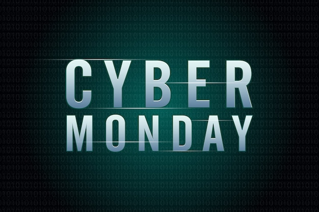 Concept de design de vente cyber lundi. modèle de conception tendance moderne.