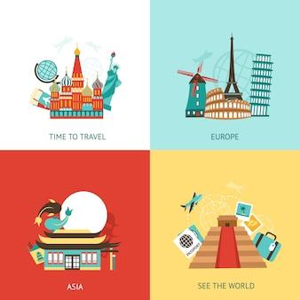 Concept de design de voyage