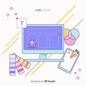 Concept de design web belle dessinés à la main