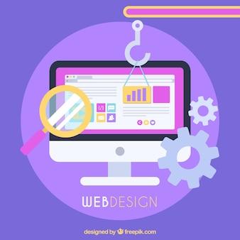 Concept de design web avec un design plat