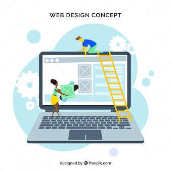 Concept de design web moderne avec un design plat