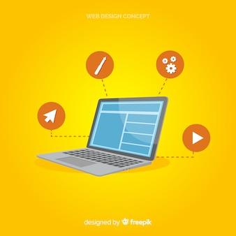 Concept de design web moderne avec style plat