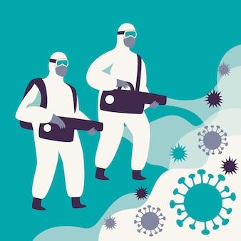 Concept de désinfection par virus