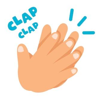 Concept de dessin animé de battements de mains
