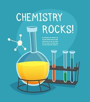 Concept de dessin animé de laboratoire de chimie