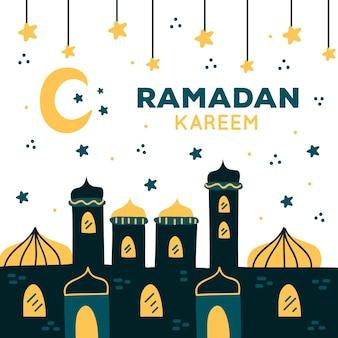 Concept de dessin ramadan