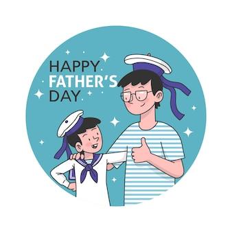 Concept dessiné illustration fête des pères