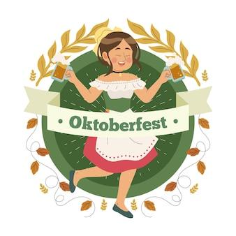Concept dessiné à la main oktoberfest