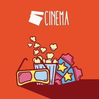 Concept de dessins animés cinéma éléments concept de dessin animé mignon cinéma