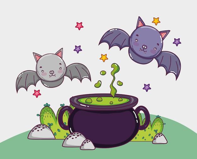 Concept de dessins animés d'halloween