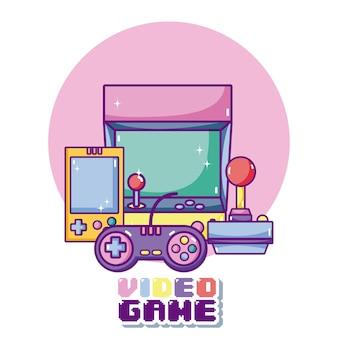 Concept de dessins animés de jeux vidéo