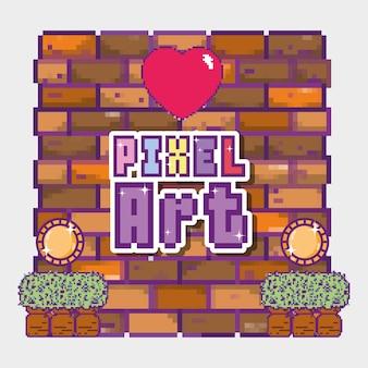 Concept de dessins animés pixel art