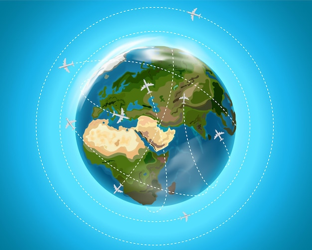 Concept de destination de voyage