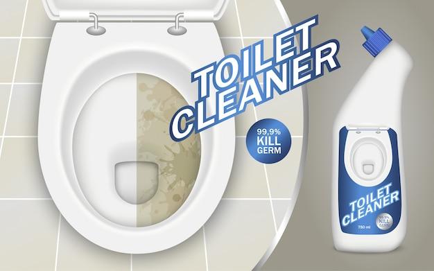Concept de détergent de toilette