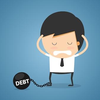 Concept de dette d'homme d'affaires