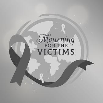 Concept de deuil pour les victimes