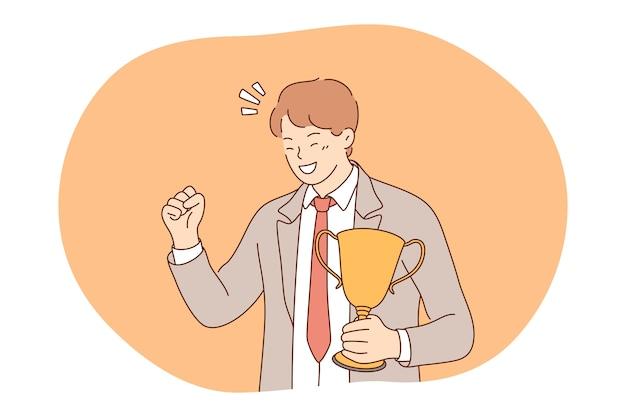 Concept de développement des affaires de leadership de succès