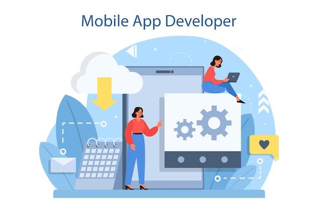 Concept de développement d'applications mobiles