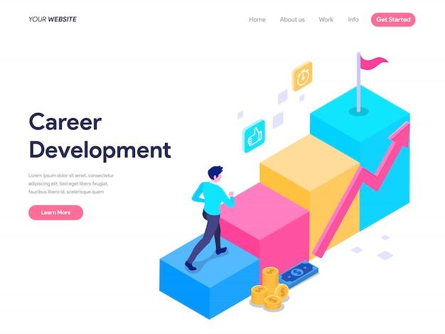 Concept de développement de carrière pour landing page, interface utilisateur, web, page d'accueil, bannière