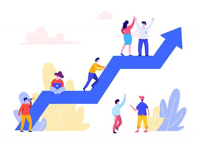 Concept de développement de carrière pour landing page, interface utilisateur, web, page d'accueil