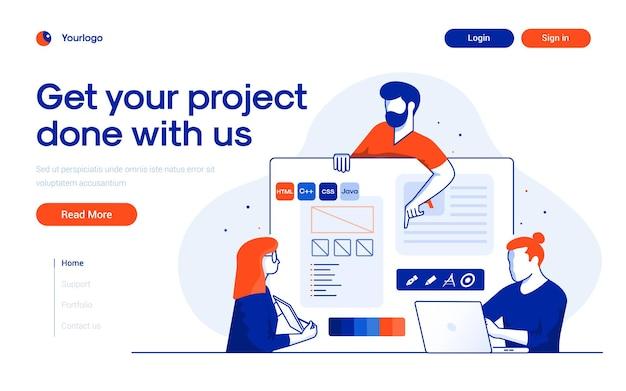 Concept de développement de projet.