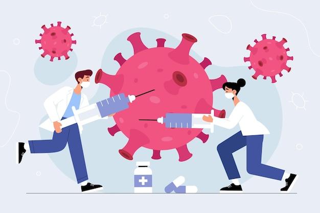 Concept De Développement D'un Vaccin Contre Le Coronavirus Vecteur Premium
