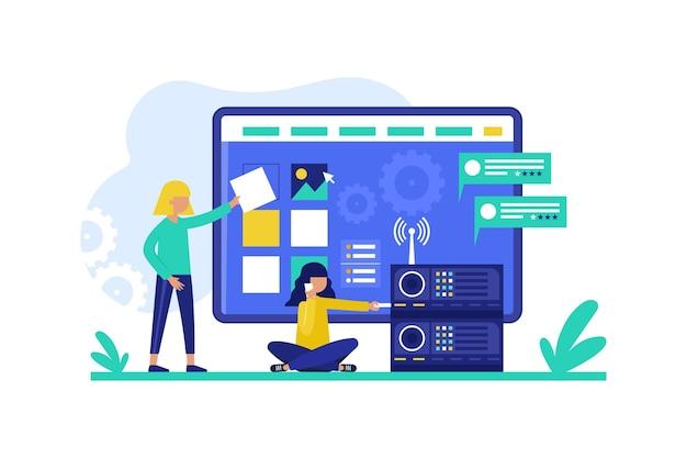 Concept de développement web plat cms
