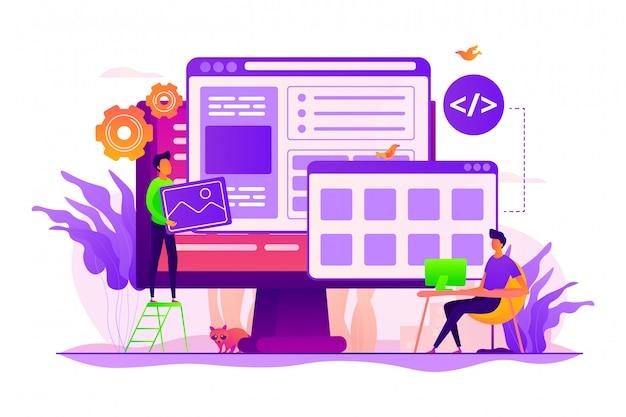Concept de développement web.