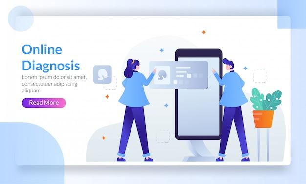 Concept de diagnostic en ligne