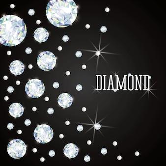 Concept de diamant avec le design de l'icône