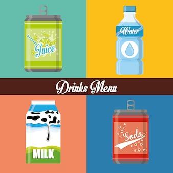 Concept de dinks avec son propre design d'icône de conteneur