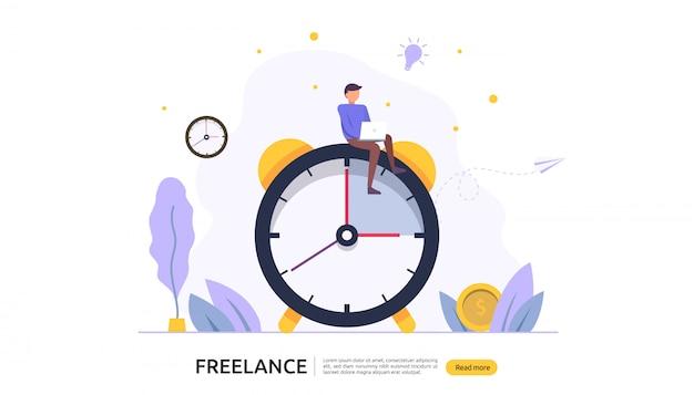 Concept à distance freelance