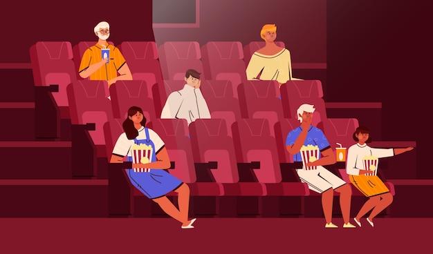 Concept de distanciation sociale dans les cinémas