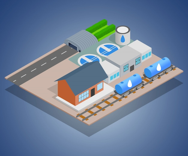 Concept de distribution d'eau