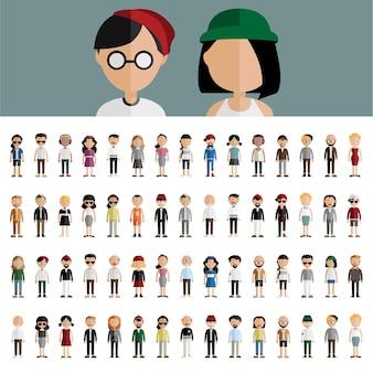 Concept de diversité communautaire personnes design plat icônes