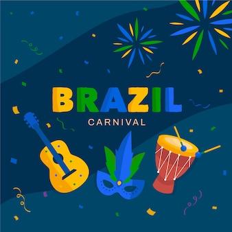 Concept de divertissement pour le carnaval brésilien